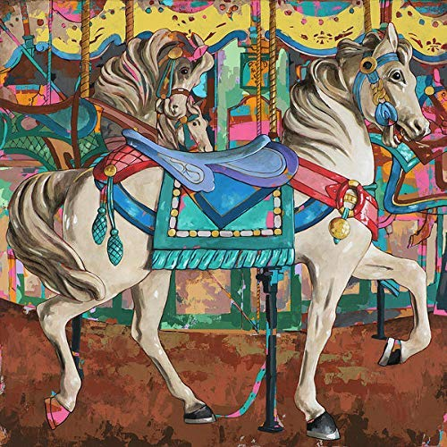 YINYINEE 5D Kit de pintura de diamantes por número A Carousel Kit de pintura de diamante para el hogar, decoración de la pared