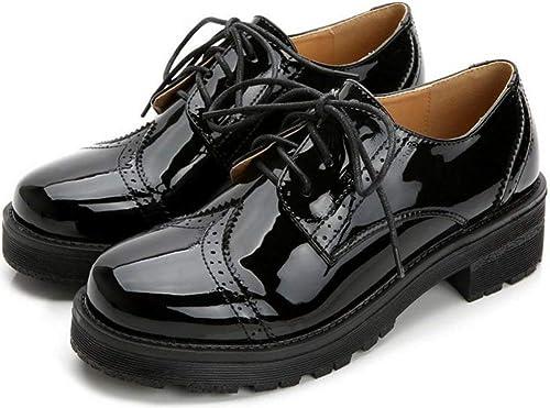Fuxitoggo zapatos pequeños de Cuero College of Wind, negro, 40 (Color   como se Muestra, tamaño   Un tamaño)