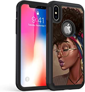 iPhone XR Case, Rossy Shockproof Heavy Duty Hybrid TPU Plastic Dual Layer Armor Defender Protection Case Cover for Apple iPhone XR 6.1 Inch 2018,African American Girls