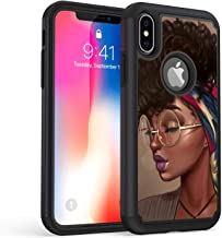 iPhone Xs Max Case, Rossy Shockproof Heavy Duty Hybrid TPU Plastic Dual Layer Armor Defender Protection Case Cover for Apple iPhone Xs Max 6.5 Inch 2018,African American Girls