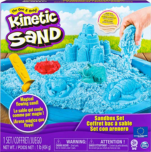 Kinetic Sand Sand Box Set blau