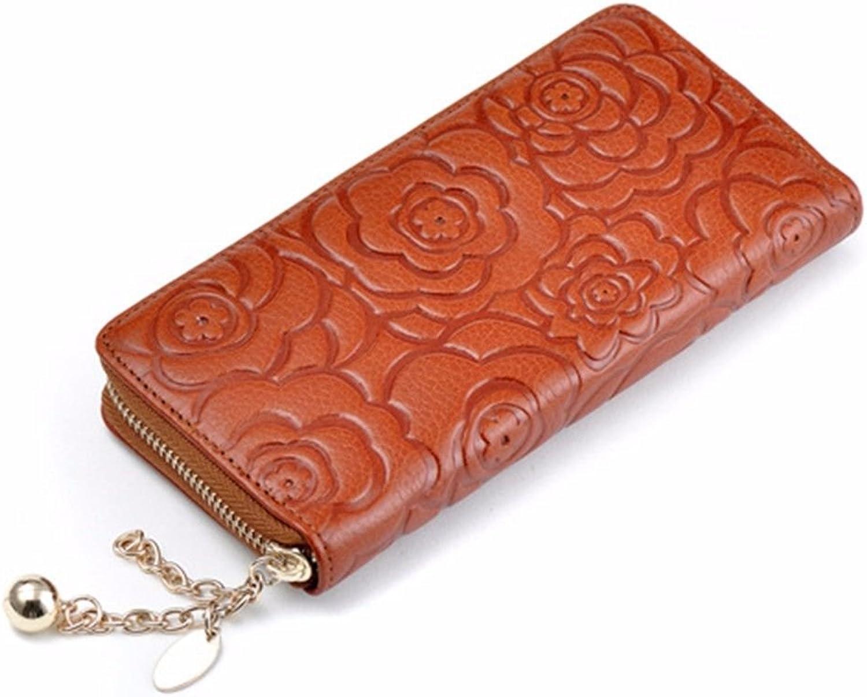 Portemonnaie aus Leder, Leder, Leder, europäische Geldbörse mit Reißverschluss B07FBJCN73 0c6bee