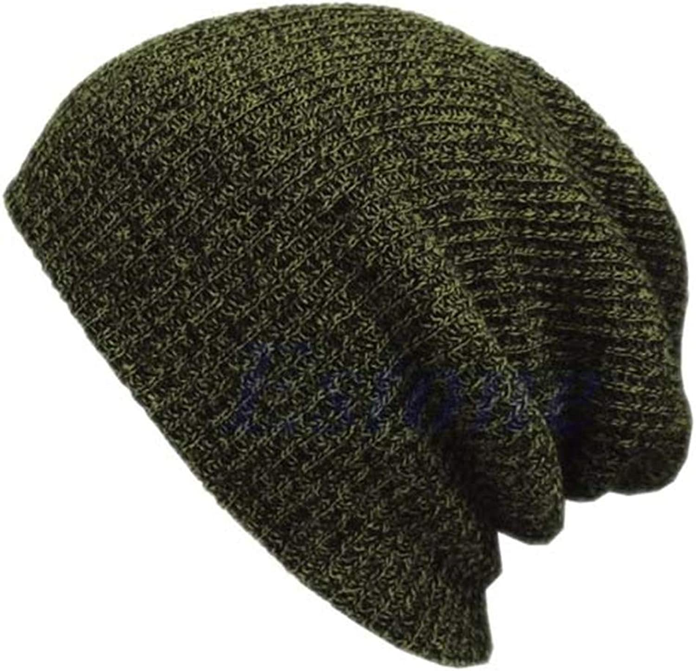 Qlskf Hip Hop Knitted Hat Women's Winter Warm Slouchy Hat Crochet Ski Beanie Hat Female Soft Baggy Beanies Men