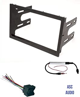 ASC Audio Car Stereo Dash Kit, Wire Harness, and Antenna Adapter for installing a Double Din Radio for select VW Volkswagen- Compatible Vehicles Listed Below,
