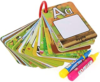 Healifty 1 Set 26 Letters Water Drawing Cards Graffiti Drawing Card Early Learning Educational Toys