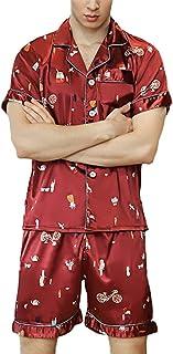 Men's Men's Pajamas Tops and Pants Sets Silky Comfortable Sizes Sleep Shirts Printing Fashion Leisure Homewear Bathing Paj...