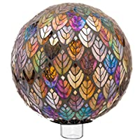 Evergreen Garden Beautiful Baroque Splendor Mosaic Glass Gazing Ball - 10 x 10 x 10 Inches Fade and Weather Resistant Indoor/Outdoor Decoration for Homes, Yards and Gardens
