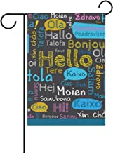 Jojogood Hello in Different Languages Garden Flag 12
