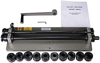 OSLAMP Industrial Sheet Metal Fabrication Bead Roller Rotary Machine 18 Inch Depth Throat Included 6 Sets of Dies Ship From USA