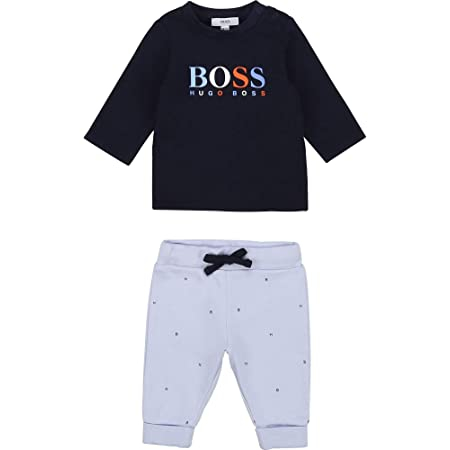 Ensemble T-shirt + pantalon BOSS BEBE COUCHE MARINE CIEL 1MOIS