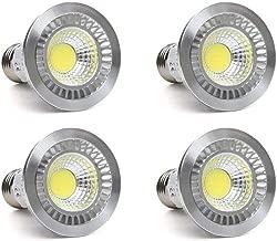 CTKcom 5 Watt PAR/HR16 LED COB Spotlight Bulb(4 Pack)- Flood Light Bulbs Downlight Lamp Flood 90° Beam Spread,2700K Warm White,50W Halogen Bulb Equivalent,LED Spotlight Bulb 110V E26 Base