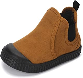 MK MATT KEELY Toddler Warm Ankle Martin Boots Boys Girls Suede Boots Outdoor Casual Shoes