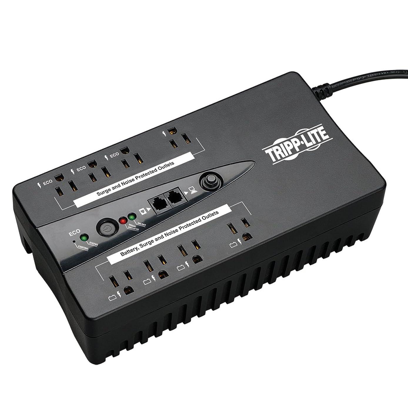 Tripp Lite 550VA UPS Battery Backup, 300W Eco Green, USB, RJ11, 8 Outlets (ECO550UPS)