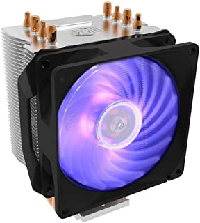 Cooler Master Hyper H410R RGB Compact High Performance CPU Cooler with 4 Direct Contact Heatpipes - Black - RR-H410-20PC-R1
