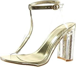 Zapatos Amazon Transparentes Dorado Para Mujer esSandalias UMVpGzqS