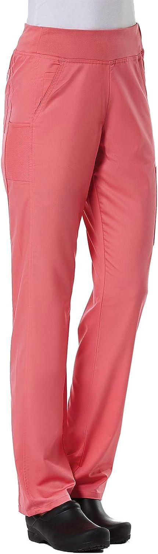 Maevn Women's EON Yoga 7-Pocket Scrub Pant(Strawberry Pink, Medi