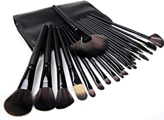 Professional Make up Brushes Set 24pcs with Synthetic Leather Case - Black