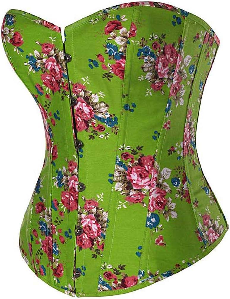 Women Summer Boned Award Bustier Outwear Corset Overbust Flower Front Colorado Springs Mall