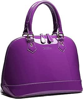Women's Satchel Purse Large Tote Lady Shoulder Bag Patent Leather Handbag Top Handle Shell Bag