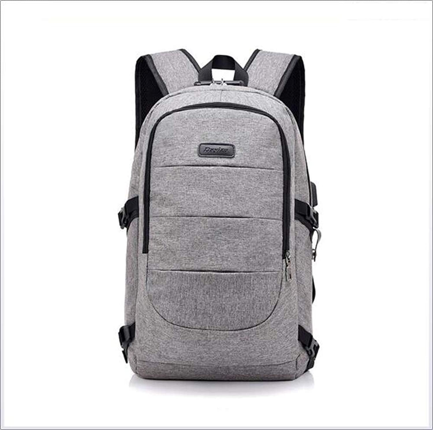 Backpack Male Casual Backpack Female Simple Personality Bag USB Travel Large Capacity Computer Bag