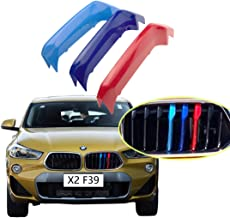 lanyun m Color Stripes Grille Insert Trims for 2017-up BMW F39 X2 Center Kidney Grille 8-Beam