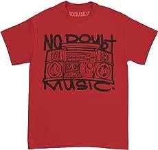 No Doubt Men's Boom Box T-Shirt Red