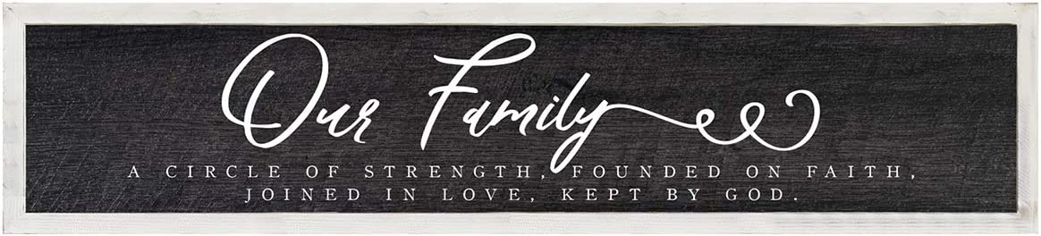 Stratton Limited time for Very popular! free shipping Home Decor Our Family Rustic Quote Wood Farmhou Hanging
