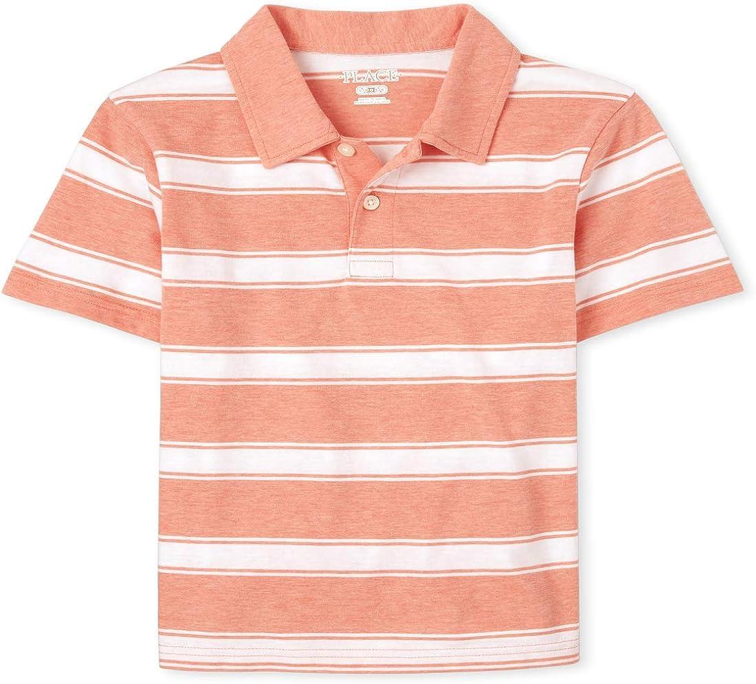 The Children's Place Boys' Short Sleeve Stripe Polo