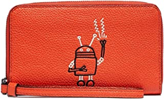 Coach Leather Keith Haring Design Robot Phone Wallet Wristlet