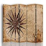 Legendarte - Biombo Pergamino Antiguo - Separador de Ambientes cm. 180x180 (5 Paneles)