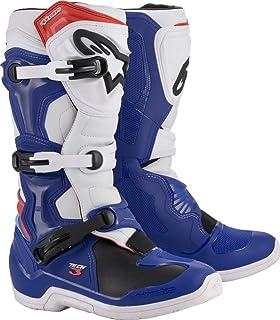 Alpinestars Tech 7 - Botas de motocross Enduro de piel, Azul (Bleu Blanc Rouge), 50 EU