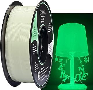 comprar comparacion Filamento PLA 1.75 mm Blanco, PLA luminoso, Verde brilla en la oscuridad, Filamento de impresora 3D ERYONE, 1 kg 1 carrete