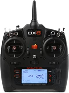 Spektrum DX8 8-Channel 2.4Ghz Dsmx TX/RX Rc Radio System G2 Mode 2 with Ar8010T Telemetry Rx | 250 Model Memory | Programmable Voice Alerts | Wireless Trainer Link