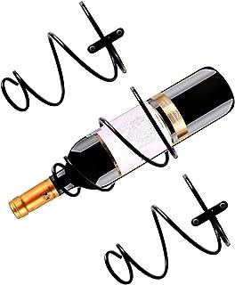 Présentoir de bouteille de vin 3Pcs , Casier à vin suspendu en métal ,Casier à vin suspendu en spirale,Casier à vin suspen...