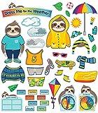 Carson Dellosa – One World Dress Me For the Weather Bulletin Board Set, 54 Pieces, Classroom Décor