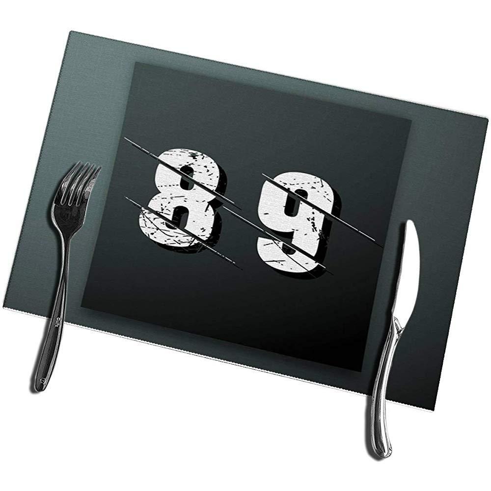 Mesa de Comedor Manteles Individuales Juego de 4 interferencias Número de Fuentes 89: Amazon.es: Hogar