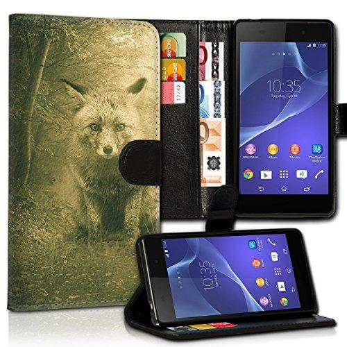 wicostar Book Style Wiko Rainbow Lite Premium PU-Leder Tasche Flip Brieftasche Handy Hülle Kartenfächer mit Standfunktion für Wiko Rainbow Lite - Design Flip MVC73