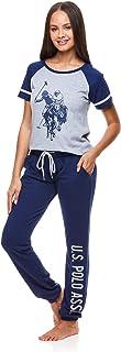 U.S. Polo Assn. Women's Pajama Set Sleepwear 2 Piece Set - Short Sleeve T-Shirt with Lounge Pajama Pants