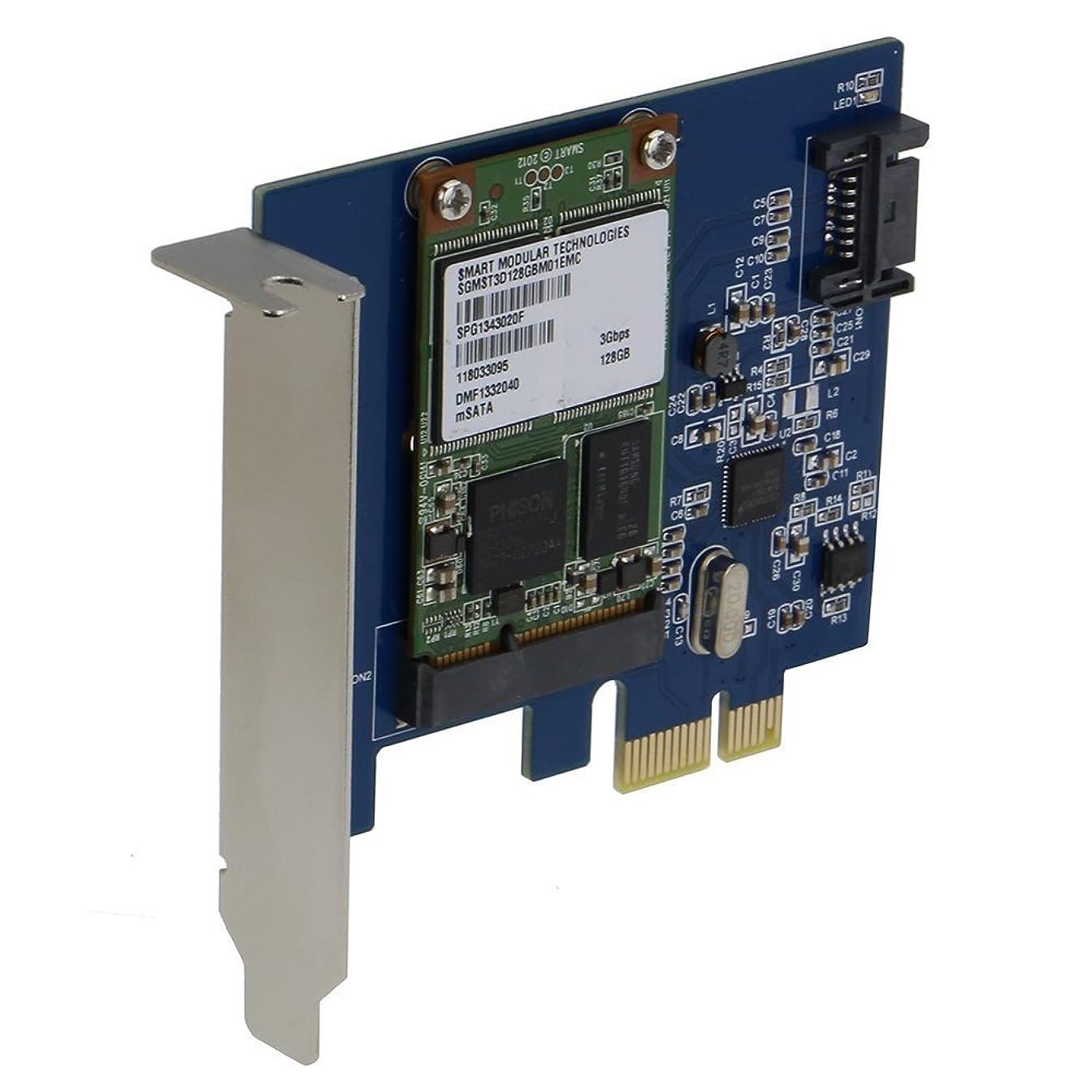 ビタミン大混乱宝SEDNA?–?PCI Express mSATA III (6g) SSDアダプタwith 1ポートSATA III with Low ProfileブラケットSSD not included)