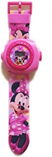 Kids Watch With Projector Disney Minnie Mouse Silicon Band for 3 Yrs Old and above