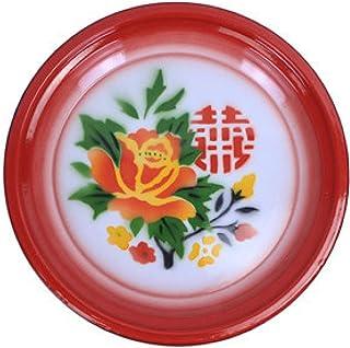 LXHDKDT Disque en émail nostalgique à l'ancienne, Assiette à thé en émail, Assiette de Fruits en émail, Style Chinois, Pla...