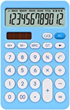 Sponsored Ad - MHUI Calculator, Standard Function Basic Calculators, Solar Battery Dual Power Office Calculator,Blue photo