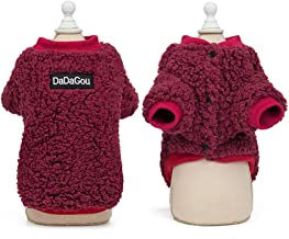 Redland Art Soft Cat Clothes Winter Pet Puppy Dog Clothes Hoodies Cat Coat Jacket Costumes for Small Medium Dogs Cats Kitten Outfits Vest (Color : Red, Size : L)