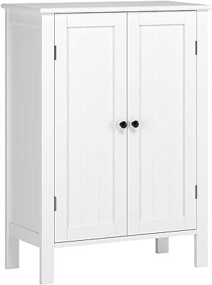 Amazon Com Catskill Craftsmen Double Door Kitchen Cabinet White