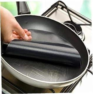 Angoter Pan Mat Non Stick Liner de Cuisson Feuille Wok Tapis de Cuisine Outils de Cuisson à Haute température antiadhésifs...