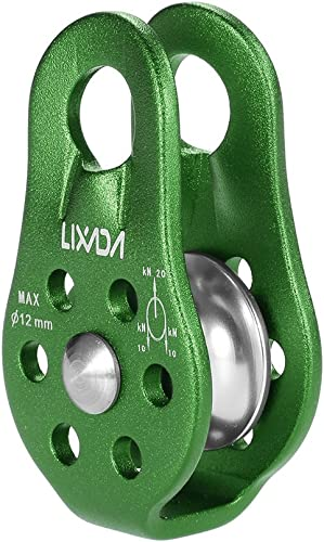Lixada Zip Line Pulley Tandem Speed Dual Trolley 30kN Rescue Climbing Dual Pulley with Ball Bearing Rock/20KN Single ...
