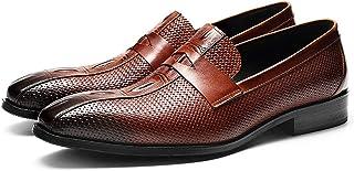 青少年メンズローファーの靴トップグレード手作り革クラシックスタイルフォーマルドレスシューズスリップオンファッションビジネスジェントリーシューズ