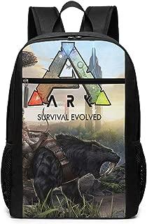ETeebag Unisex Teenager 17-inch Backpack For High School Or College ARK-Survival Evolved Black