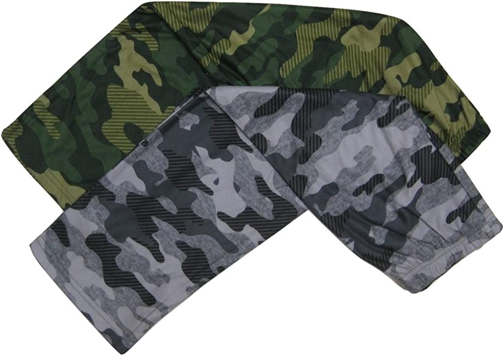 Up-Late Boys 2-Pack Camouflage Lounge Pants, Green, Small (4/5)