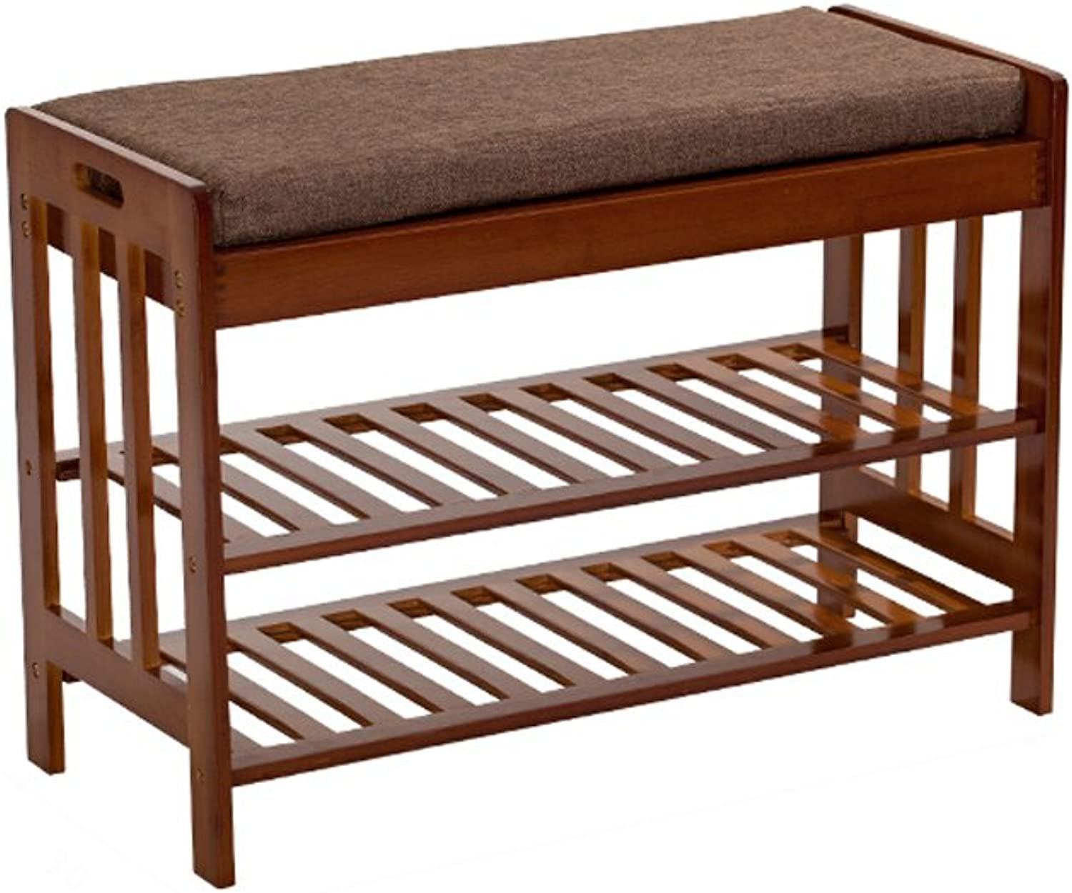 shoes Rack Organizer Storage, Solid Wood shoes Bench, dust Storage Rack, shoes Rack, Storage Stool Sofa Stool, Fabric shoes Bench. (Size   1-50cm)